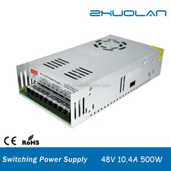 500W shenzhen hot selling Switching Power Supply for Led Strip ,Input AC110/220V to Output DC 48V 10.4A power supply