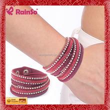 Different Color A Class Crystal Bracelet Bangle Crystal Leather Bracelet