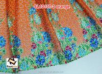 Hot sale mix color african orange cord lace fabric of SL10137-3 orange