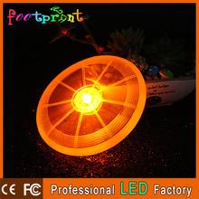 Top quality plastic circular LED flash frisbee
