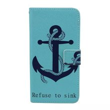 Concise and Vogue Anchor case for iPhone 6 4.7-inch Painted patterns Classic look Stitch Kickstand PU Leather cover