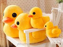Fashionable big yellow duck good quality stuffed plush doll