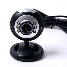 USB 6 LED 5M Clip WebCam Web Camera with Microphone MIC