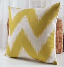 Yellow and White Wave Pillow Cushions Pantone Colors Available