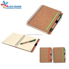 custom recycled notebook with pen for promotion