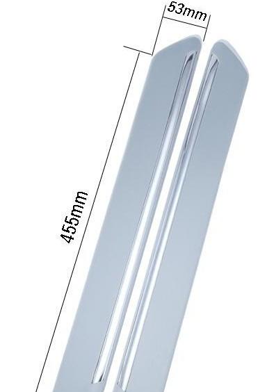 2 шт./пара Защитная Наклейка на дверь автомобиля наклейка бампер 45*6 см 4 шт./компл. A2