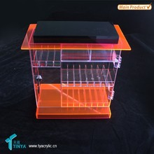 Factory Wholesale Retail Store Cigarette Transparent Acrylic Natural Fruit Juice Plastic Stand