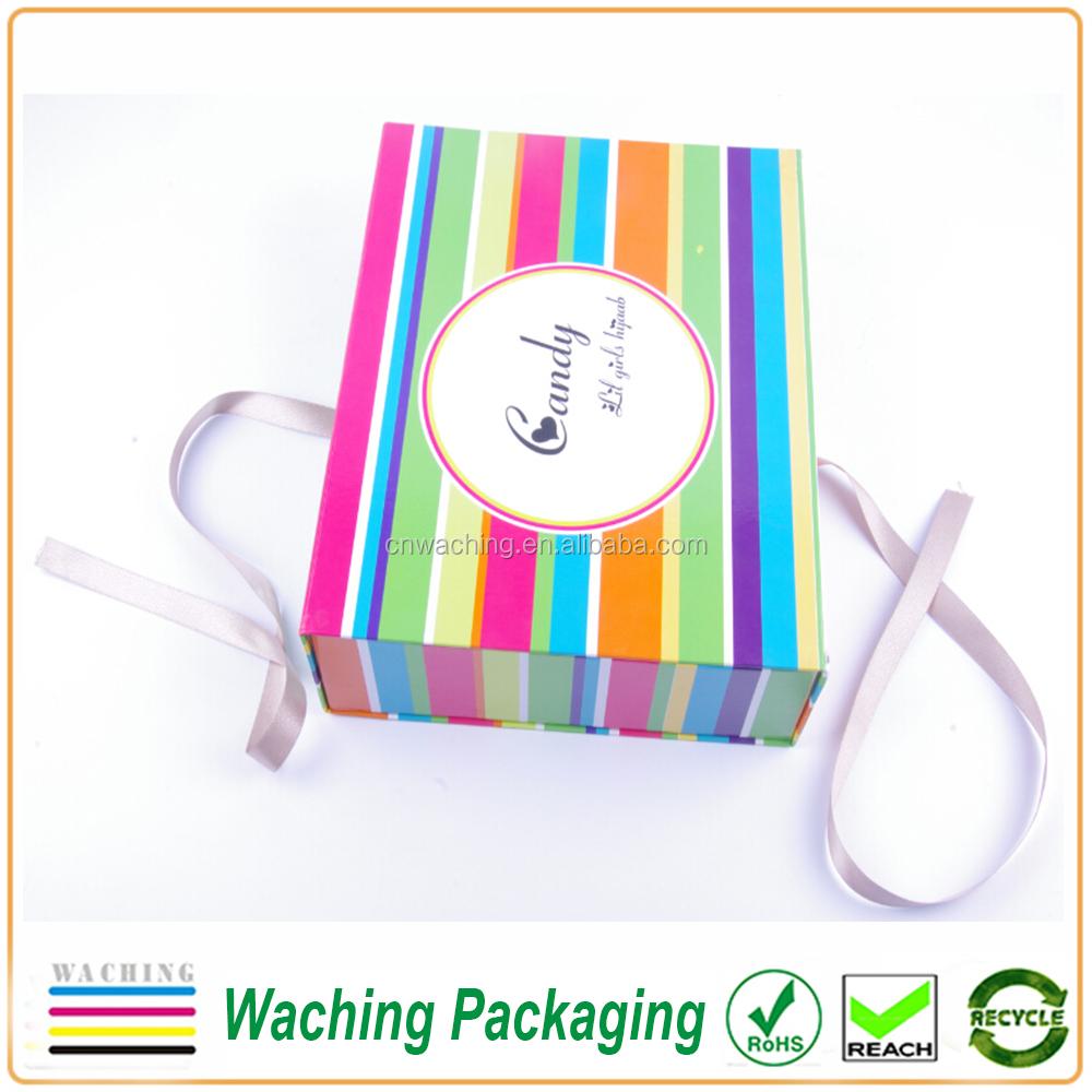 Personnalis e aimant fermeture pliage bo te de papier cadeau caisses d 39 emballage id de produit - Pliage papier cadeau ...