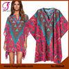 380040 NEW 2015 Digital Print Beachwear Resort Wear Kaftan