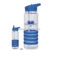24 OZ.Banded Gripper Water Bottle With Straw ,Kids Water Bottle