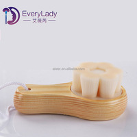 Wood pore cleaning brush manual facial cleaning brush