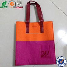 2015 new design wool felt shopping bag/felt laptop sleeve