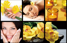 SPA-9808 beautiful fashion modern picture wall canvas for nail shop