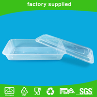 Non-toxic Flat Plastic Food Container