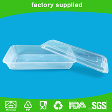 Pp Non-toxic Flat Plastic Food Container