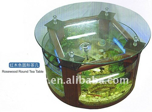 Table basse aquarium r servoirs de poissons accessoires for Pompe aquarium rond