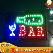 Alibaba express new electronic led open sign, customized allowed led open closed sign energy saving