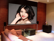 16:9 120 Inch Home Made Motorized Projector Screen , Electric Projection Screen