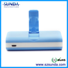 Free logo print 4400mah power bank with holder let you watch vedio and charge at the same