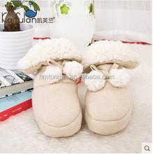 GOTS organic 100% cotton thicken and thermal newborn Sherpa fleece soft outsole newborn baby boots