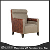 French rural soild wood furniture/flax and cloth soft roll armchair/oak three seat and three seat sofa chair