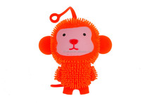 Small monkey puffer ball,new product flashing kid toy with YOYO string