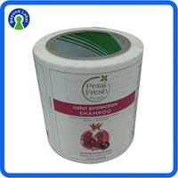 Custom Shampoo Bottle Label, Adhesive Printing Shampoo Label Packaging, Shampoo Private Label