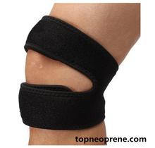 Open Patella Design knee brace support Neoprene knee support green and white knee brace support