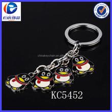 Chine les plus populaires outils de réseautage social pingouin pendentif trousseau