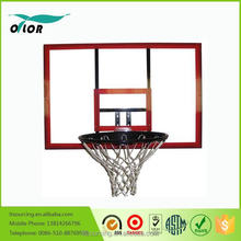 Wholesale red deluxe wall mounting glass basketball backboard system
