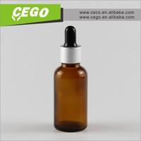 30ml amber glass dropper bottles with black rubber for e-liquid ,e liquid,e-juice in stock