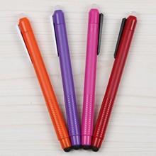 Multi colors plastic pen , erasable gel pen with touch function