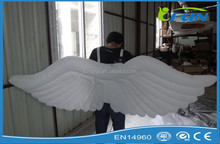 white inflatable wing/inflatable LED wing decoration/inflatable wing for performance