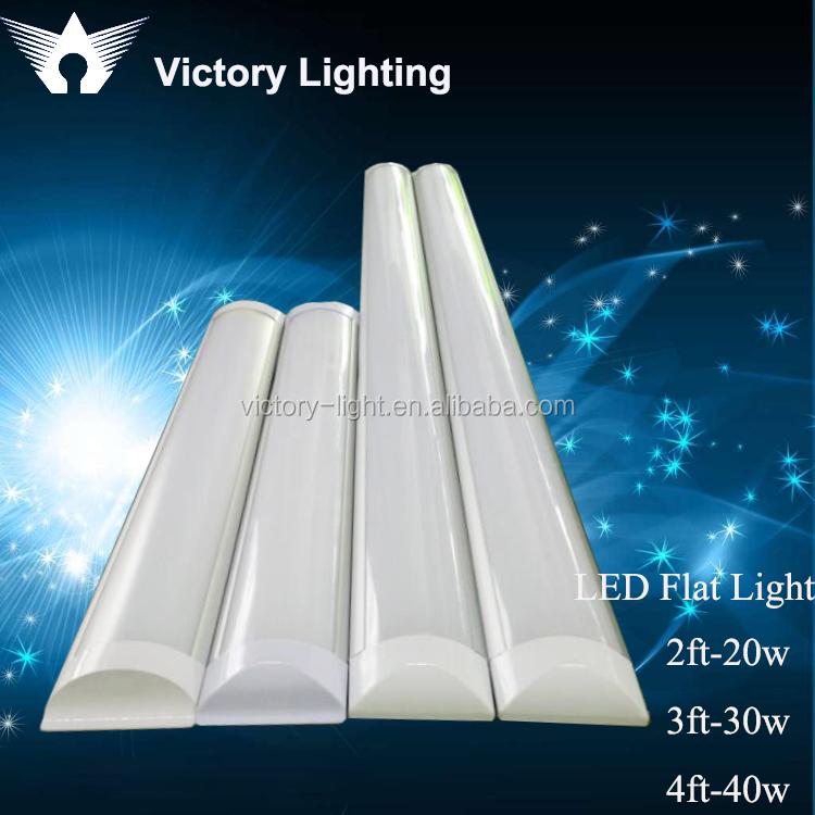 Long led flat ceiling light fixture buy flat led tube for Long ceiling light fixture