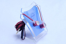 3.5MM plug in ear earphone with flat cable headphones with mic for cellphone