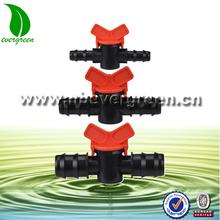 mini de plástico de la válvula para tubería de polietileno de baja densidad