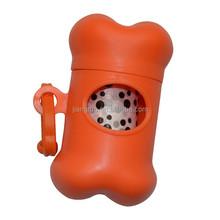 Colorful dog poop bag dispenser