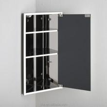 Modern hinged door mirrored wall cabinet/bathroom corner storage cabinet