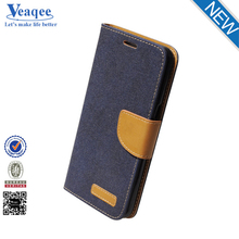 Veaqee PU Leather Customized Wallet Card Holder Stand Leather Flip Case for Samsung
