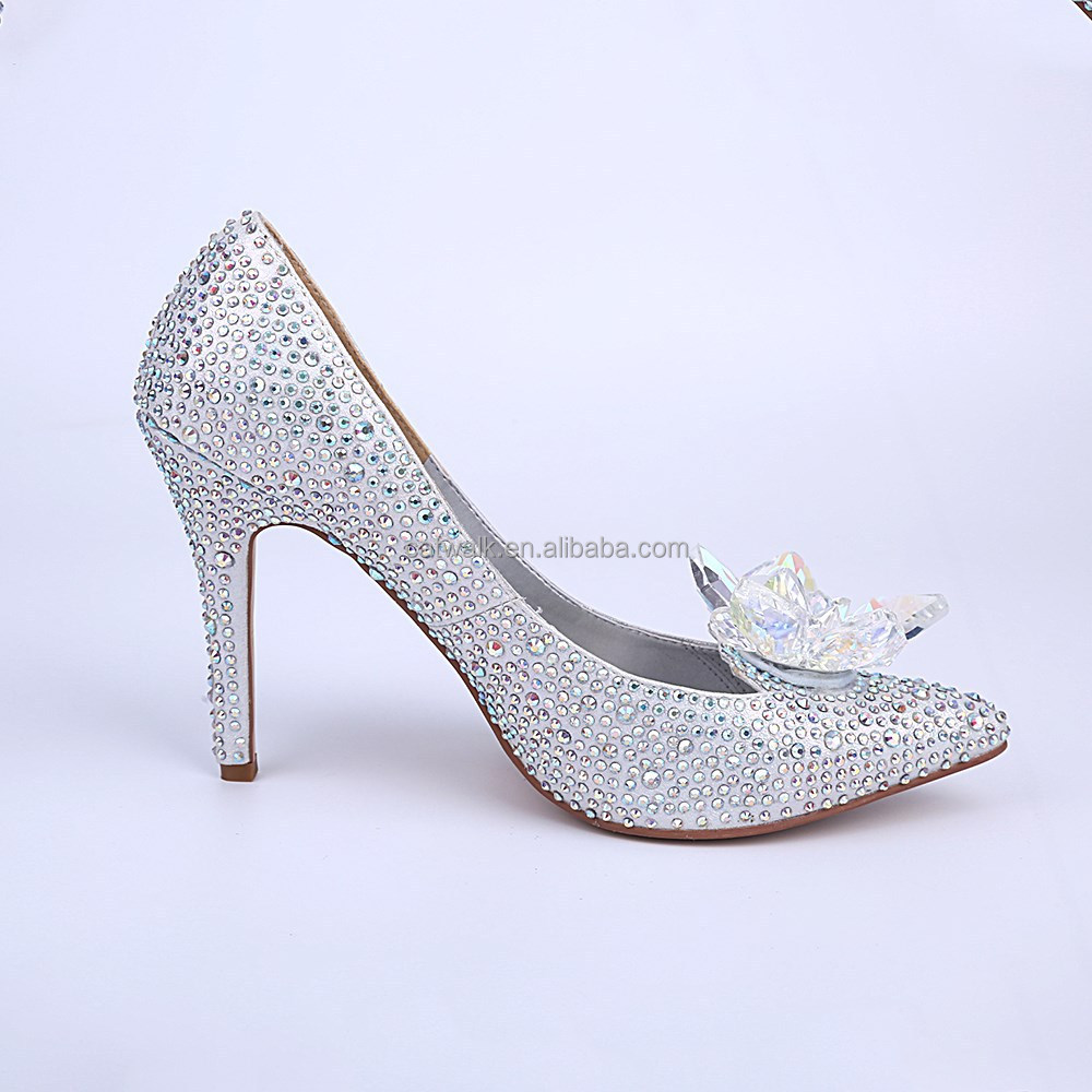 High heel dress shoes wholesale shoes lady fashion crystal beaded