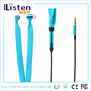 hot new products for 2015 metal in ear waterproof shoelace flat cable earphone with microphone