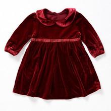 Cowboy do bebê crianças vestido longo vestidos designs vestidos de veludo meninas kids kids vestuário exportação