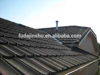 Color Roof Tile / roofing material for building /Colorful stone coated steel Roof Tile