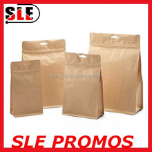 Custom dampproof brown Kraft paper bag for food