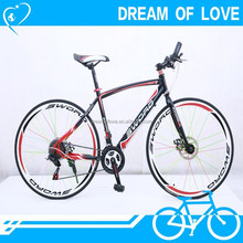 On Sale!!! 700C Wheels REEK Disc Brake Road Bike with 21 speed/Cheap Road Bicycles with high carbon steel frame