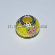 fashion custom design flower murano glass beads for chandelier