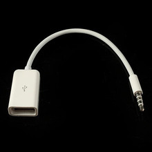 Factory Price 3.5mm Aux Audio Plug Jack to Female USB Converter Cable