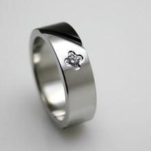 2015 fashion satin bicolor 316L granite jewelry true love waits ring