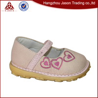 light pink genuine leather handmade baby hard sole working shoes