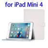 China supplier Sheepskin Texture Leather smart cover for ipad mini 4